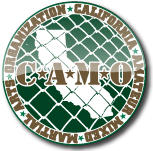 CAMO Approved California Amateur Mixed Martial Arts Organization Black Out Fight Gear